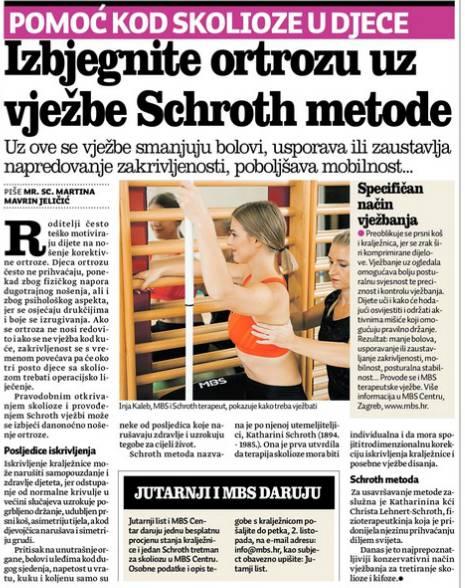 Jutarnji list - Schroth metoda